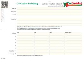 von Co-Cooking Einladungsformular bei Alleine Kochen ist doof - gemeinsam macht´s mehr Spaß!